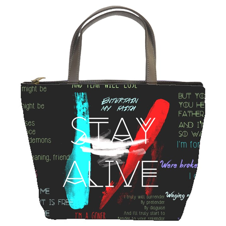 Twenty One Pilots Stay Alive Song Lyrics Quotes Bucket Bags