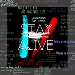 Twenty One Pilots Stay Alive Song Lyrics Quotes Mini Canvas 8  x 8  8  x 8  x 0.875  Stretched Canvas
