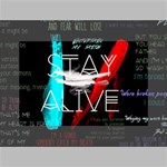 Twenty One Pilots Stay Alive Song Lyrics Quotes Mini Canvas 6  x 4  6  x 4  x 0.875  Stretched Canvas