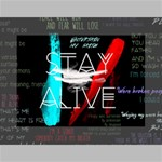 Twenty One Pilots Stay Alive Song Lyrics Quotes Mini Canvas 7  x 5  7  x 5  x 0.875  Stretched Canvas