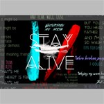 Twenty One Pilots Stay Alive Song Lyrics Quotes Canvas 18  x 12  18  x 12  x 0.875  Stretched Canvas