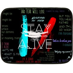 Twenty One Pilots Stay Alive Song Lyrics Quotes Double Sided Fleece Blanket (Mini)