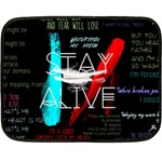 Twenty One Pilots Stay Alive Song Lyrics Quotes Double Sided Fleece Blanket (Mini)  35 x27 Blanket Back