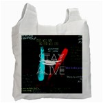 Twenty One Pilots Stay Alive Song Lyrics Quotes Recycle Bag (One Side) Front