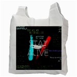Twenty One Pilots Stay Alive Song Lyrics Quotes Recycle Bag (Two Side)  Back
