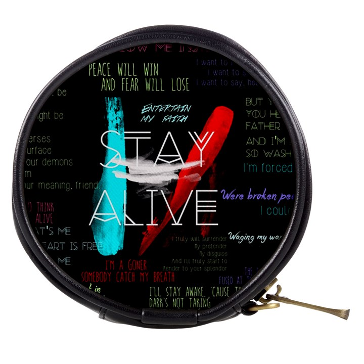Twenty One Pilots Stay Alive Song Lyrics Quotes Mini Makeup Bags