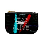 Twenty One Pilots Stay Alive Song Lyrics Quotes Mini Coin Purses Front