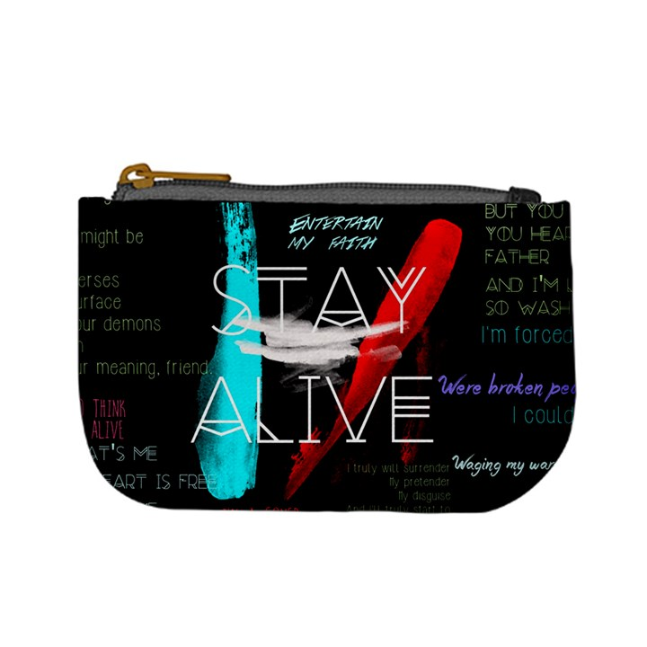 Twenty One Pilots Stay Alive Song Lyrics Quotes Mini Coin Purses