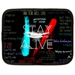 Twenty One Pilots Stay Alive Song Lyrics Quotes Netbook Case (XXL)  Front