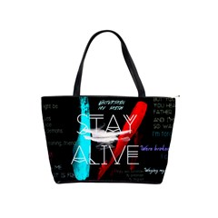 Twenty One Pilots Stay Alive Song Lyrics Quotes Shoulder Handbags
