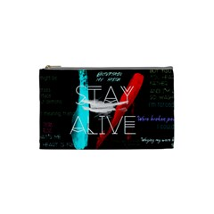 Twenty One Pilots Stay Alive Song Lyrics Quotes Cosmetic Bag (Small)