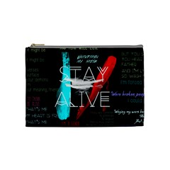 Twenty One Pilots Stay Alive Song Lyrics Quotes Cosmetic Bag (Medium)