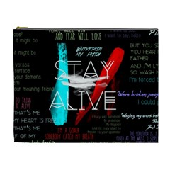 Twenty One Pilots Stay Alive Song Lyrics Quotes Cosmetic Bag (xl)