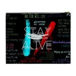 Twenty One Pilots Stay Alive Song Lyrics Quotes Cosmetic Bag (XL) Back