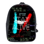 Twenty One Pilots Stay Alive Song Lyrics Quotes School Bags(Large)  Front