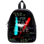 Twenty One Pilots Stay Alive Song Lyrics Quotes School Bags (Small)  Front
