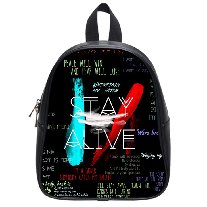 Twenty One Pilots Stay Alive Song Lyrics Quotes School Bags (Small)