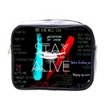 Twenty One Pilots Stay Alive Song Lyrics Quotes Mini Toiletries Bags Front