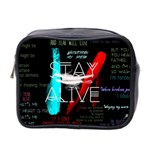 Twenty One Pilots Stay Alive Song Lyrics Quotes Mini Toiletries Bag 2-Side Front