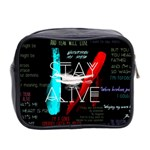 Twenty One Pilots Stay Alive Song Lyrics Quotes Mini Toiletries Bag 2-Side Back