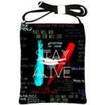 Twenty One Pilots Stay Alive Song Lyrics Quotes Shoulder Sling Bags Front