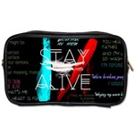 Twenty One Pilots Stay Alive Song Lyrics Quotes Toiletries Bags Front
