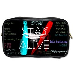 Twenty One Pilots Stay Alive Song Lyrics Quotes Toiletries Bags 2-Side