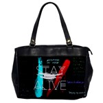 Twenty One Pilots Stay Alive Song Lyrics Quotes Office Handbags Front