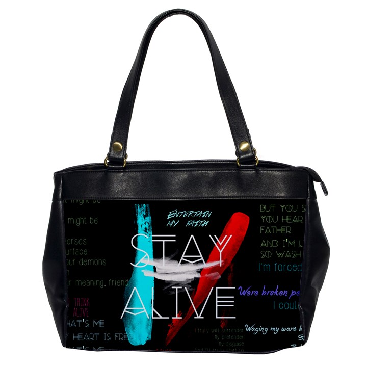 Twenty One Pilots Stay Alive Song Lyrics Quotes Office Handbags