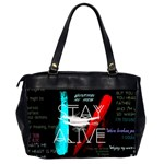 Twenty One Pilots Stay Alive Song Lyrics Quotes Office Handbags (2 Sides)  Back