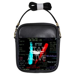 Twenty One Pilots Stay Alive Song Lyrics Quotes Girls Sling Bags