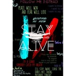 Twenty One Pilots Stay Alive Song Lyrics Quotes 5.5  x 8.5  Notebooks Front Cover Inside