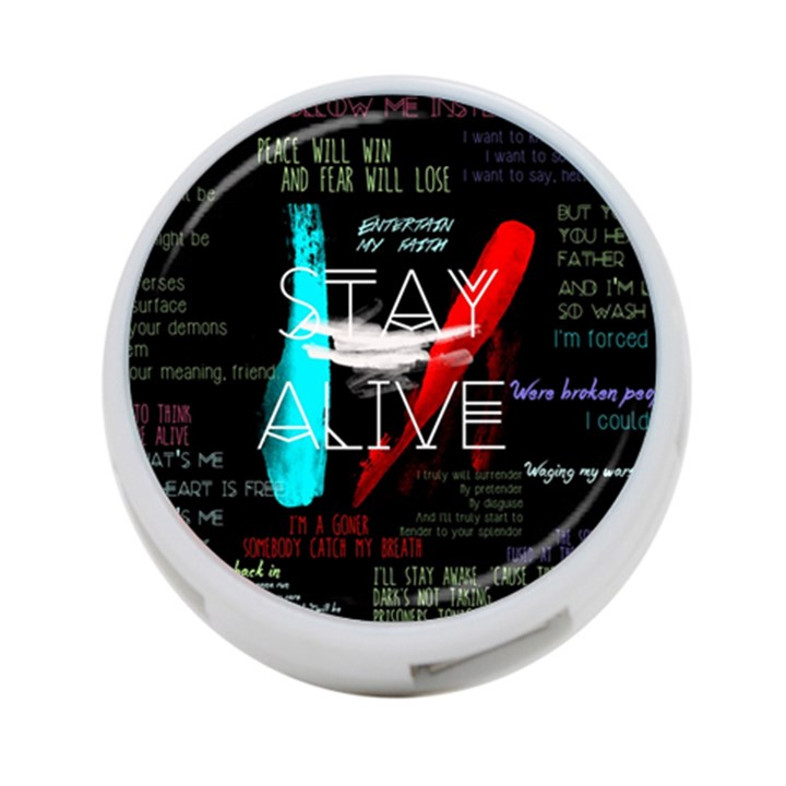 Twenty One Pilots Stay Alive Song Lyrics Quotes 4-Port USB Hub (Two Sides)