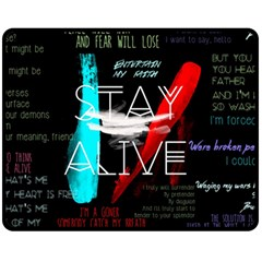 Twenty One Pilots Stay Alive Song Lyrics Quotes Fleece Blanket (Medium)