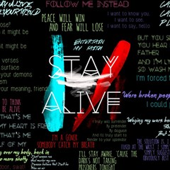 Twenty One Pilots Stay Alive Song Lyrics Quotes Magic Photo Cubes
