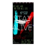 Twenty One Pilots Stay Alive Song Lyrics Quotes Shower Curtain 36  x 72  (Stall)  33.26 x66.24 Curtain
