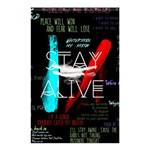 Twenty One Pilots Stay Alive Song Lyrics Quotes Shower Curtain 48  x 72  (Small)  42.18 x64.8 Curtain
