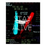 Twenty One Pilots Stay Alive Song Lyrics Quotes Shower Curtain 60  x 72  (Medium)  54.25 x65.71 Curtain