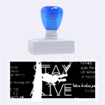 Twenty One Pilots Stay Alive Song Lyrics Quotes Rubber Stamps (Large) 2.26 x1.05  Stamp