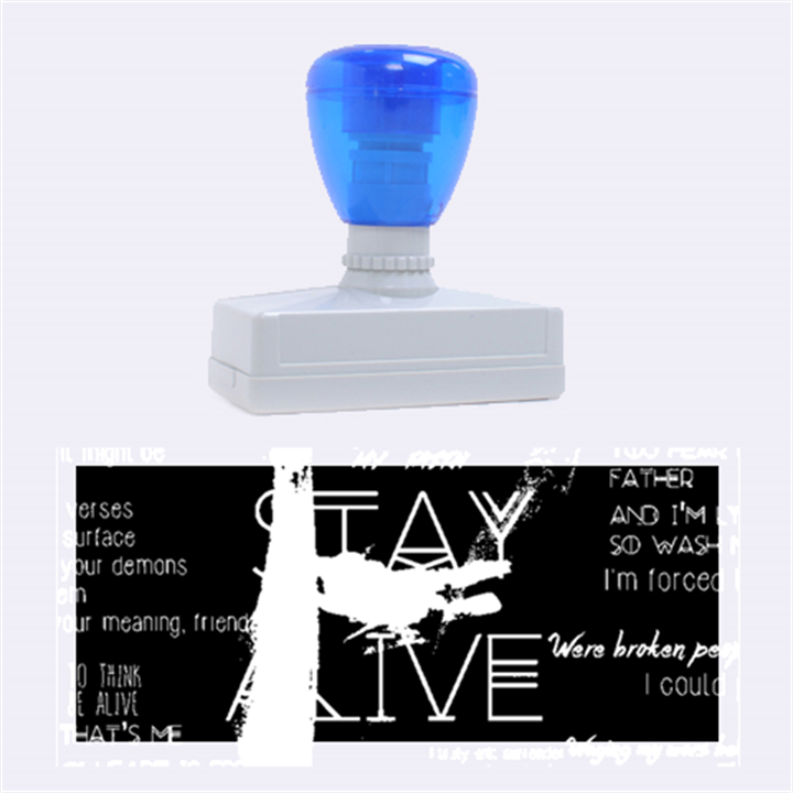 Twenty One Pilots Stay Alive Song Lyrics Quotes Rubber Stamps (Large)