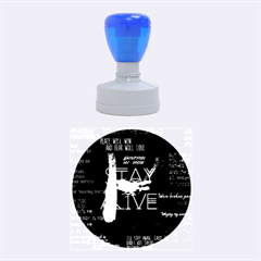 Twenty One Pilots Stay Alive Song Lyrics Quotes Rubber Round Stamps (medium)