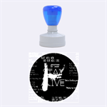 Twenty One Pilots Stay Alive Song Lyrics Quotes Rubber Round Stamps (Medium) 1.5 x1.5  Stamp