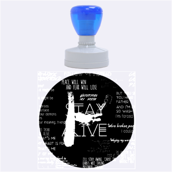 Twenty One Pilots Stay Alive Song Lyrics Quotes Rubber Round Stamps (Large)