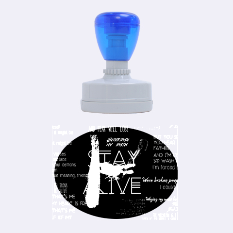 Twenty One Pilots Stay Alive Song Lyrics Quotes Rubber Oval Stamps