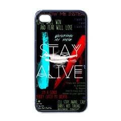 Twenty One Pilots Stay Alive Song Lyrics Quotes Apple iPhone 4 Case (Black)