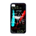 Twenty One Pilots Stay Alive Song Lyrics Quotes Apple iPhone 4 Case (Black) Front