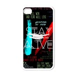 Twenty One Pilots Stay Alive Song Lyrics Quotes Apple iPhone 4 Case (White) Front