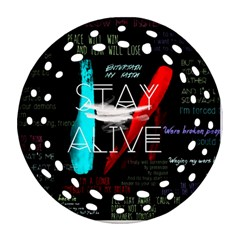Twenty One Pilots Stay Alive Song Lyrics Quotes Ornament (Round Filigree)
