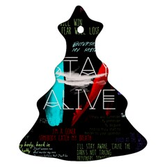 Twenty One Pilots Stay Alive Song Lyrics Quotes Ornament (Christmas Tree)