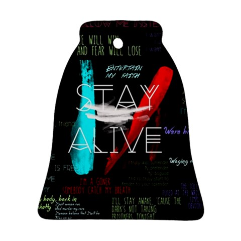 Twenty One Pilots Stay Alive Song Lyrics Quotes Ornament (Bell)